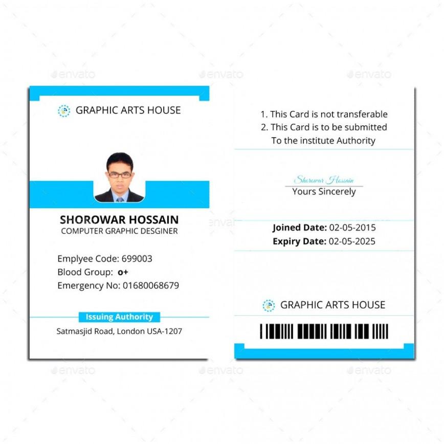 000 Wondrou Id Badge Template Free Image  Employee Download Teacher