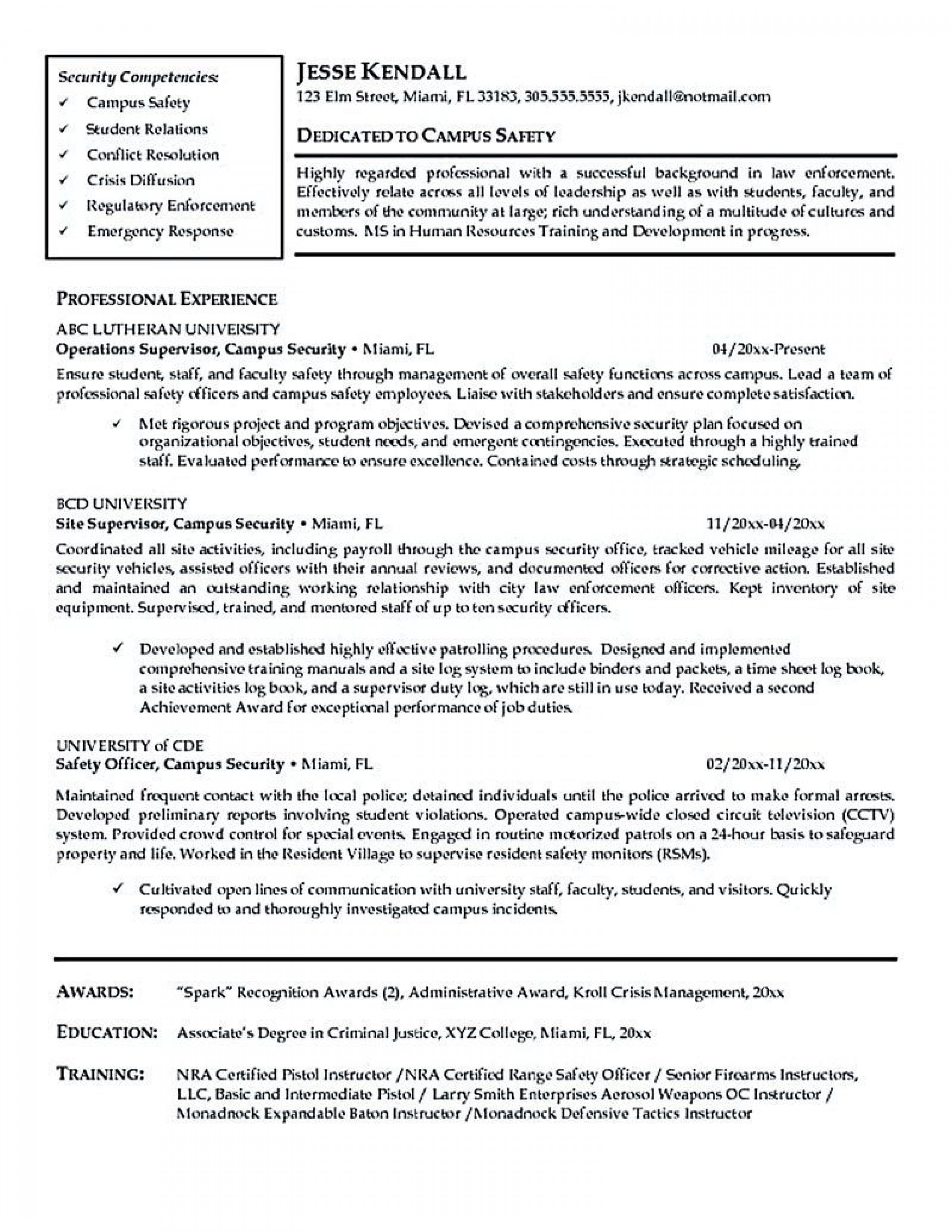 000 Wondrou Law Enforcement Resume Template High Resolution  Federal Promotion1920