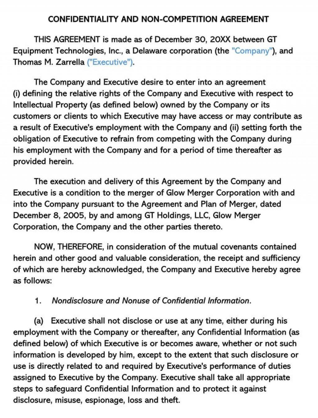 000 Wondrou Non Compete Agreement Template Image  Sample India Free FloridaLarge