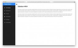 000 Wondrou Side Menu Bar Template Free Download Concept