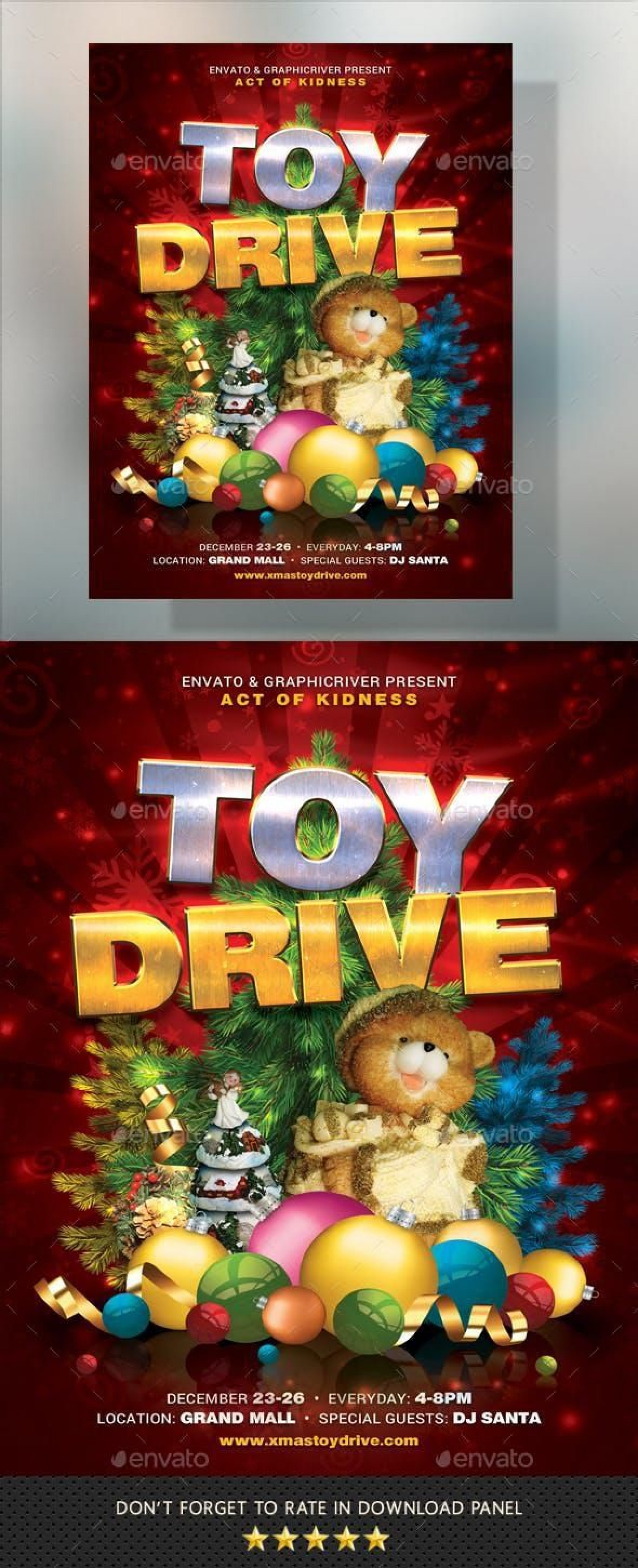 000 Wondrou Toy Drive Flyer Template Example  Holiday Download Free Word1920