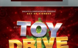 000 Wondrou Toy Drive Flyer Template Example  Holiday Download Free Word