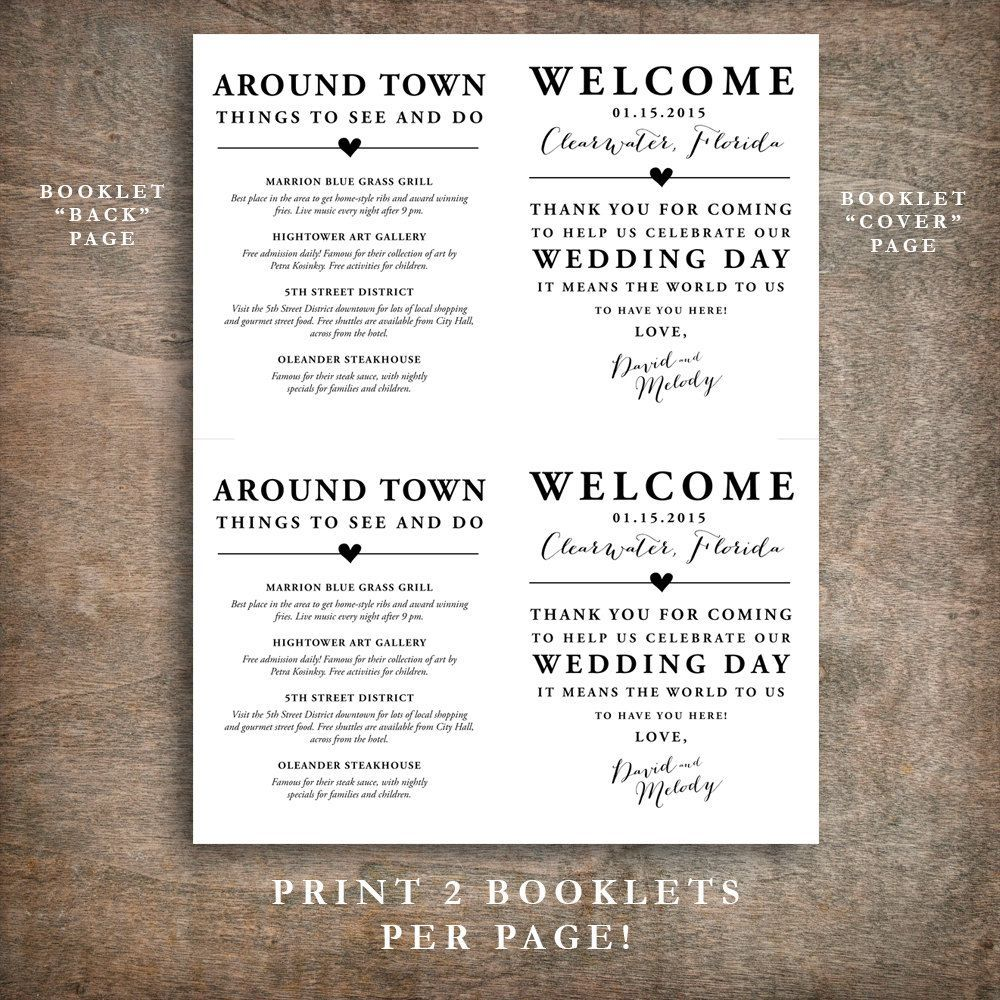 000 Wondrou Wedding Welcome Bag Letter Template Free Example Full