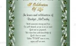 001 Amazing Celebration Of Life Invitation Template Free Highest Quality