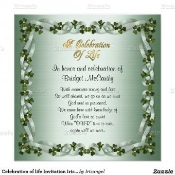 001 Amazing Celebration Of Life Invitation Template Free Highest Quality 360