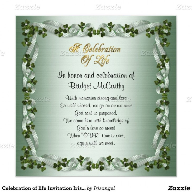 001 Amazing Celebration Of Life Invitation Template Free Highest Quality 728