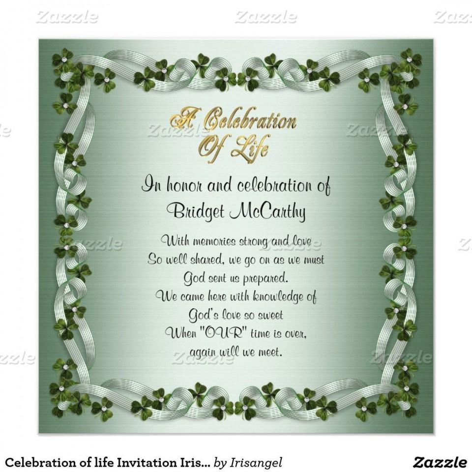 001 Amazing Celebration Of Life Invitation Template Free Highest Quality 960
