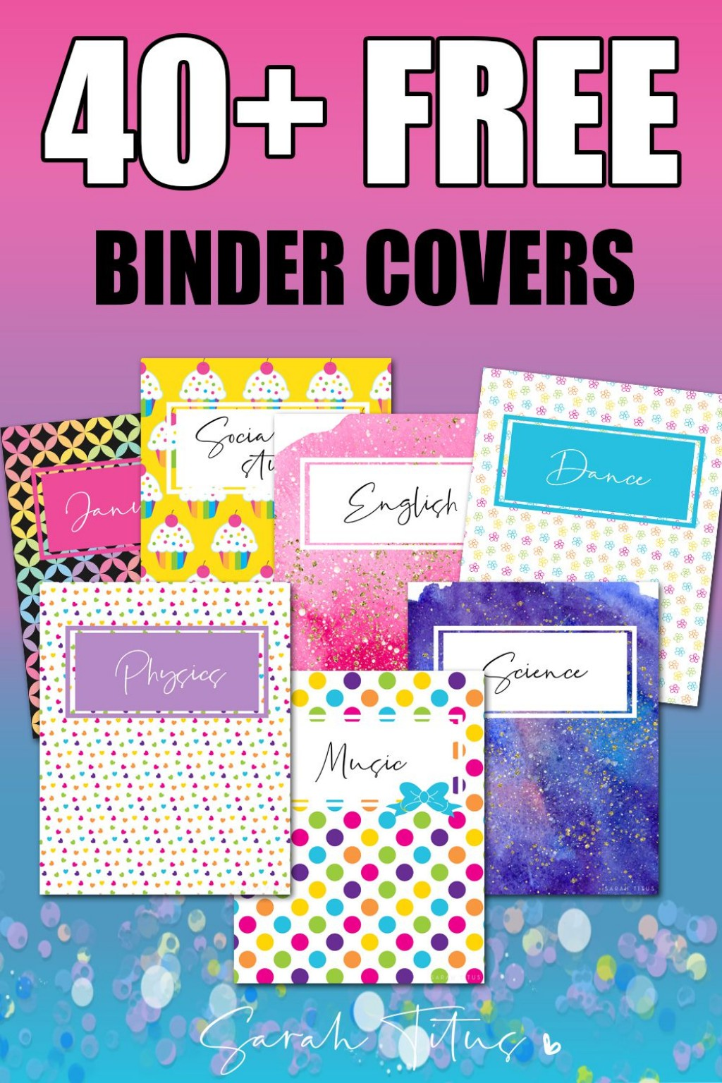 001 Amazing Cute Binder Cover Template Free Printable Design Large