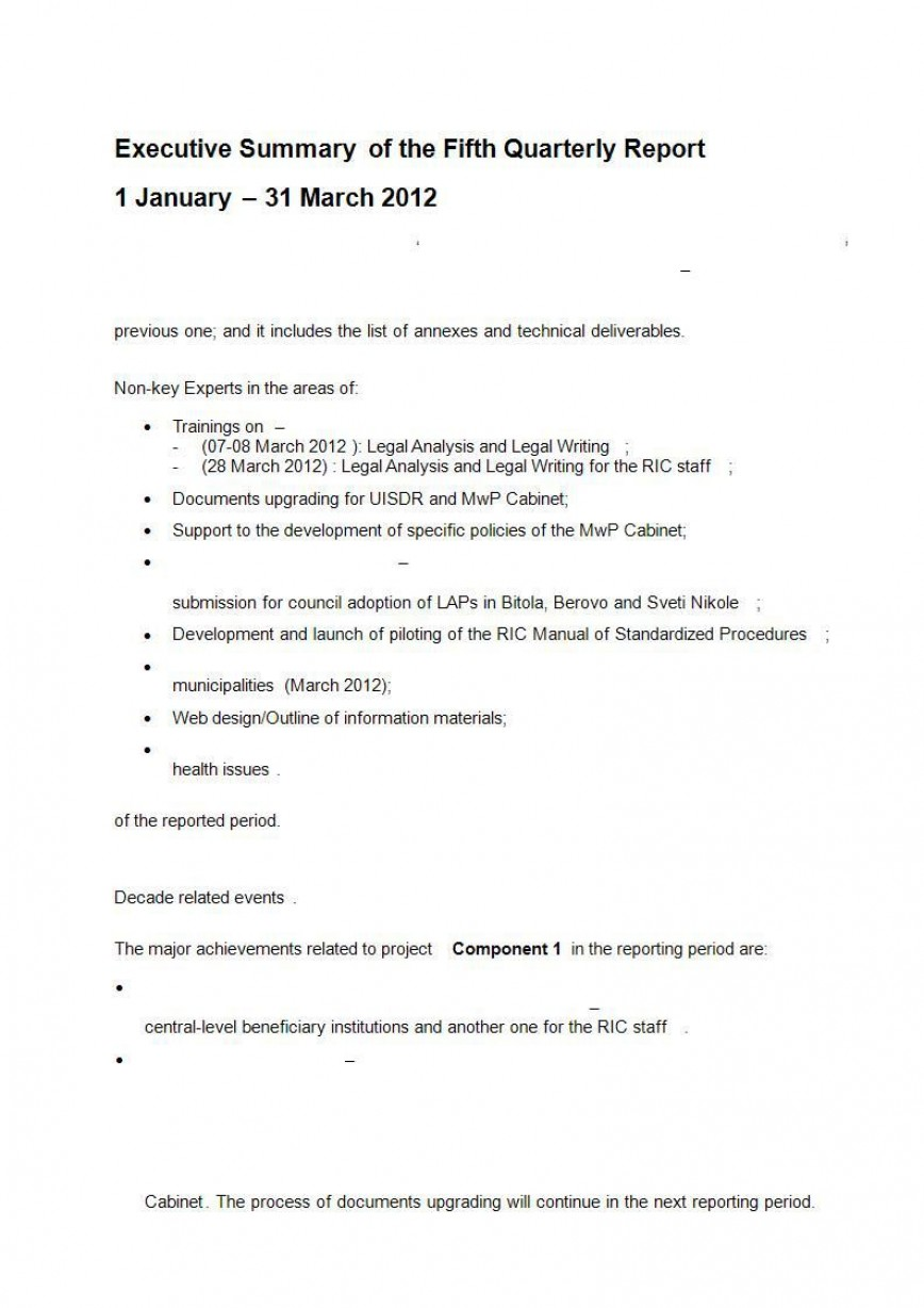001 Amazing Executive Summary Template Doc Design  Example Word For Healthcare Document Sample