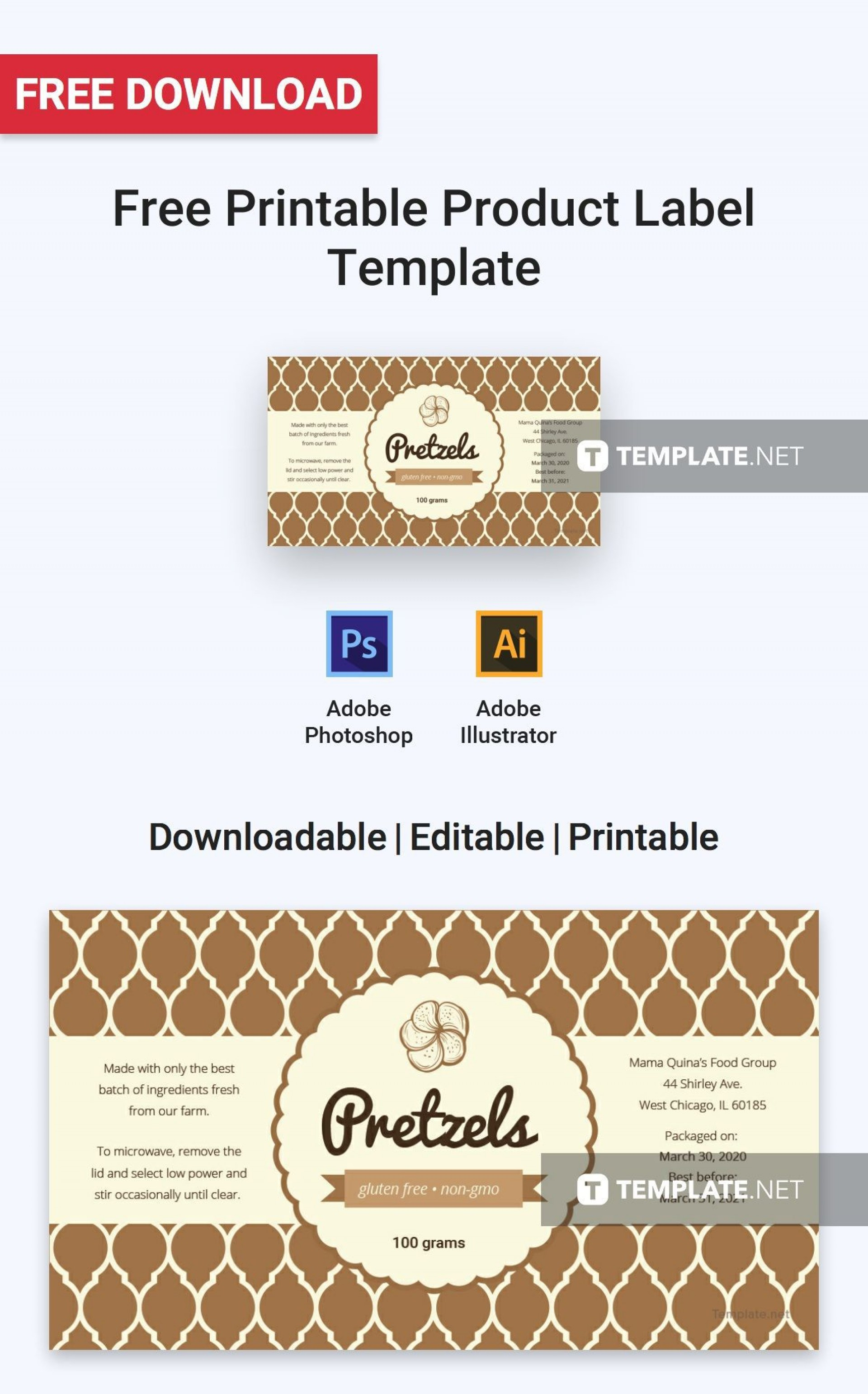 001 Amazing Free Food Label Design Template High Def  Templates Download1920