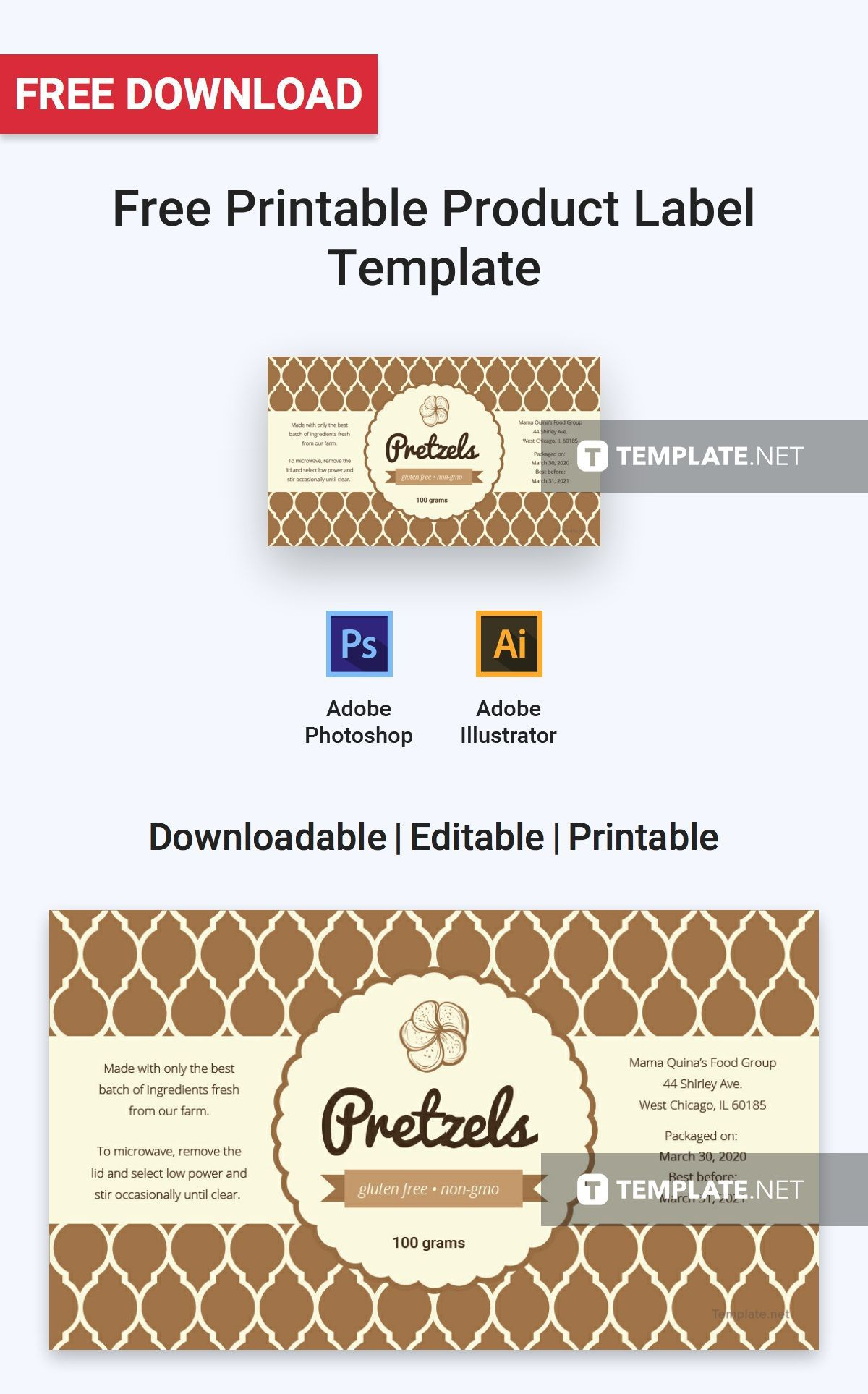 001 Amazing Free Food Label Design Template High Def  Templates DownloadFull