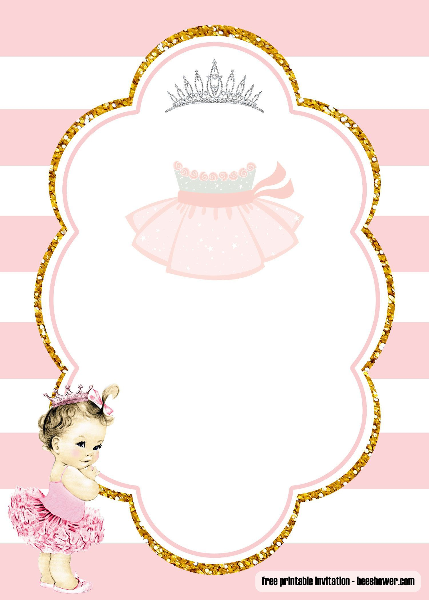 001 Amazing Free Girl Baby Shower Invitation To Print Highest Clarity  Printable TwinFull