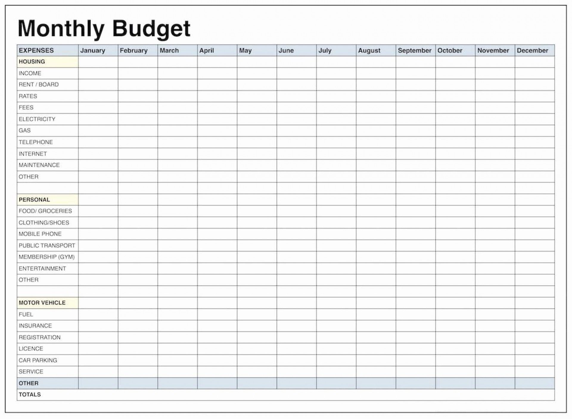 001 Amazing Free Monthly Budget Worksheet Printable Design  Template Family Blank1920
