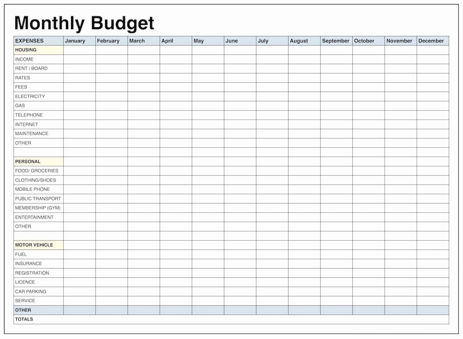 001 Amazing Free Monthly Budget Worksheet Printable Design  Template Family BlankFull