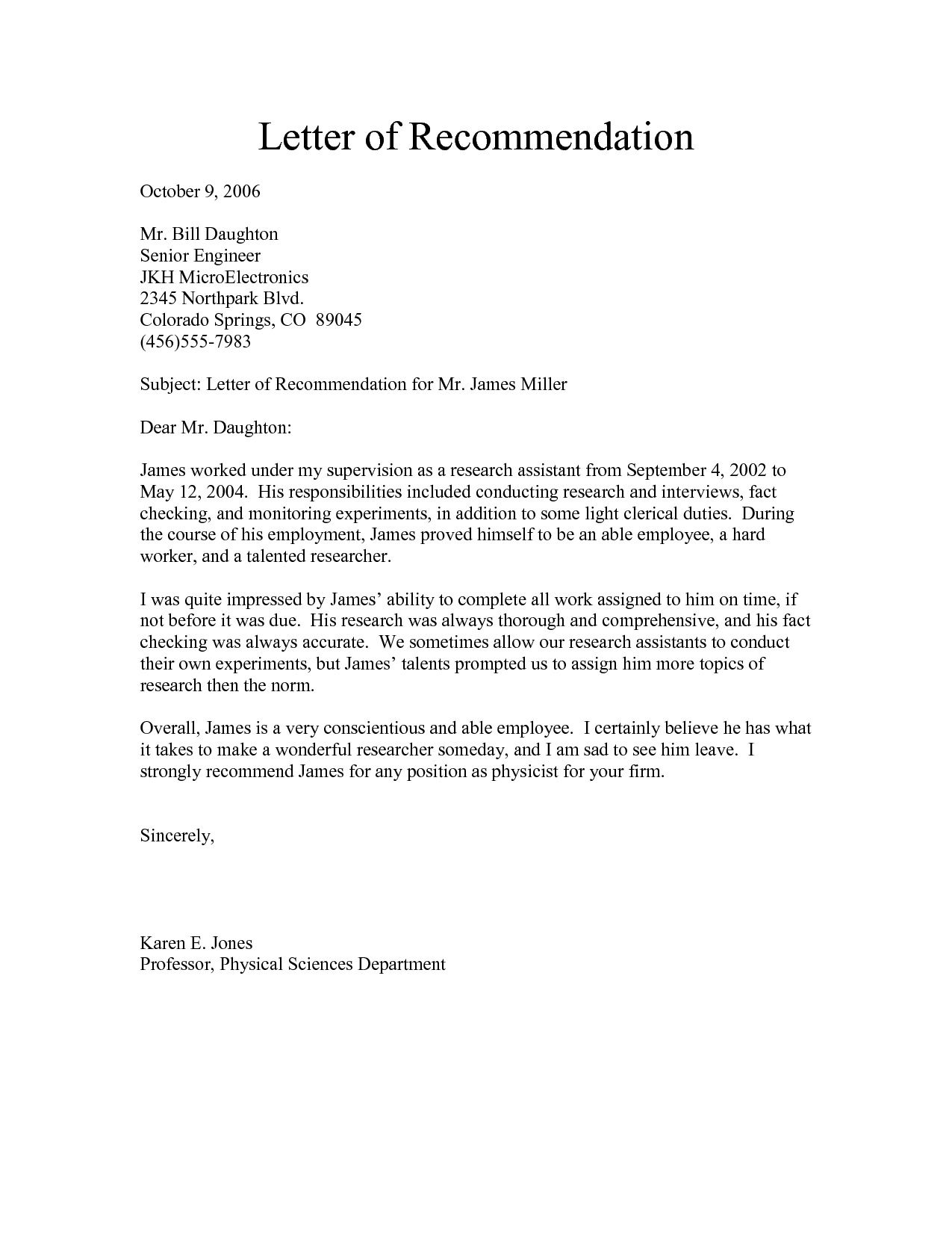 Template For Letter Of Recommendation from www.addictionary.org