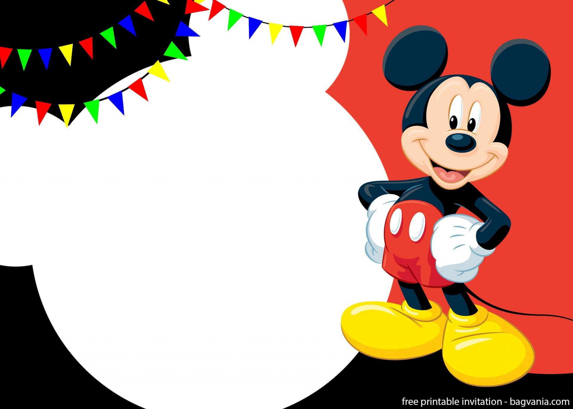 001 Amazing Mickey Mouse Invitation Template Highest Quality  Free Diy 1st Birthday Baby Download1920