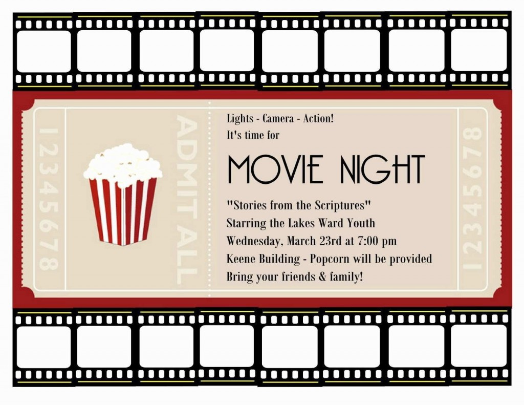 001 Amazing Movie Ticket Invitation Template Highest Quality  Blank Free Download Editable PrintableLarge