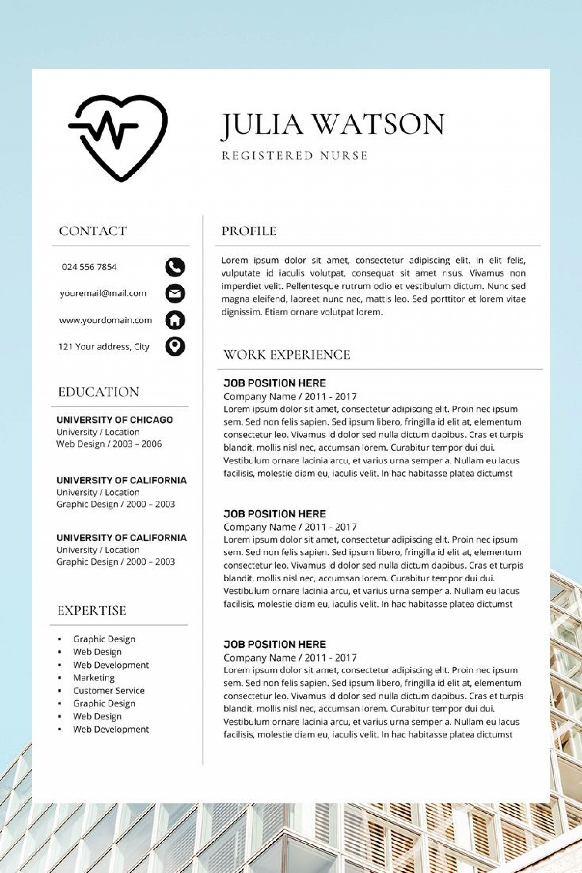 001 Amazing Nurse Resume Template Free Idea  Graduate Rn1920