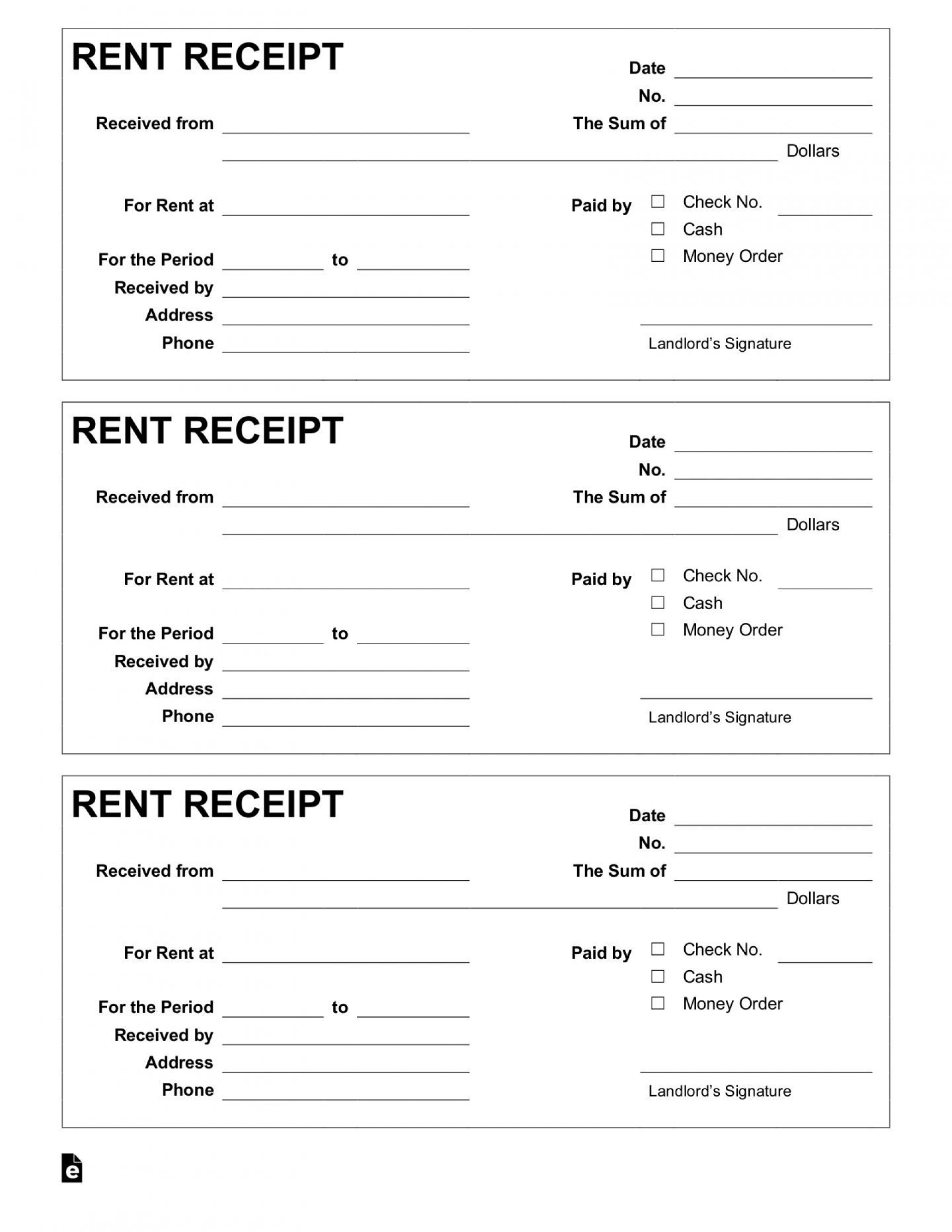 001 Amazing Rent Payment Receipt Template Inspiration  Excel Free1920