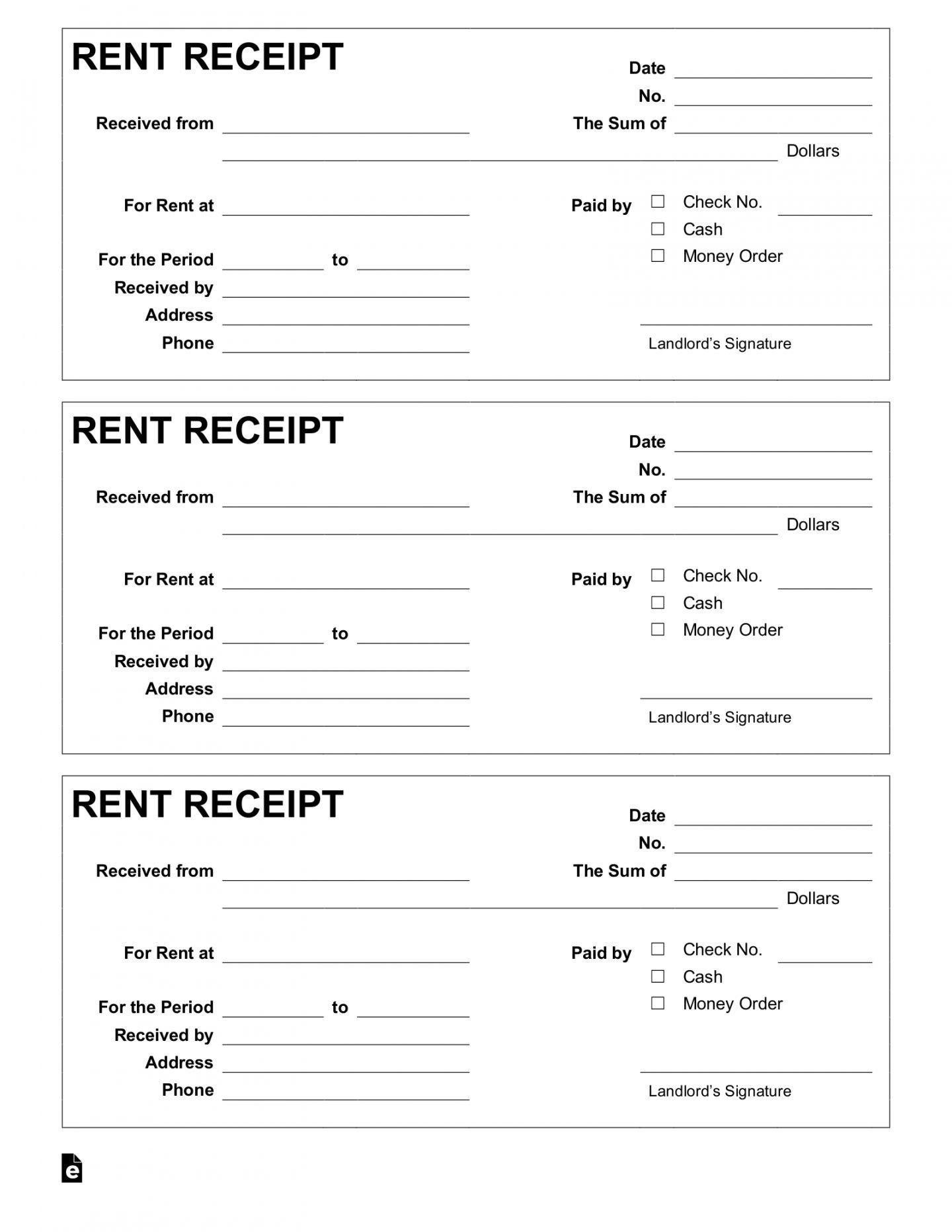 001 Amazing Rent Payment Receipt Template Inspiration  Excel FreeFull