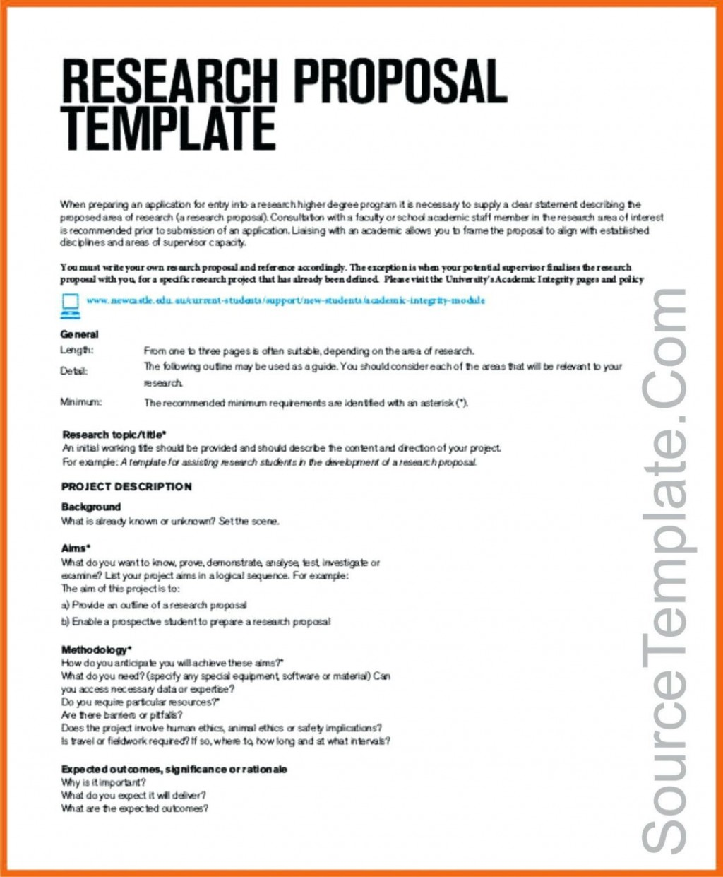 001 Amazing Research Project Proposal Template Word Image Large