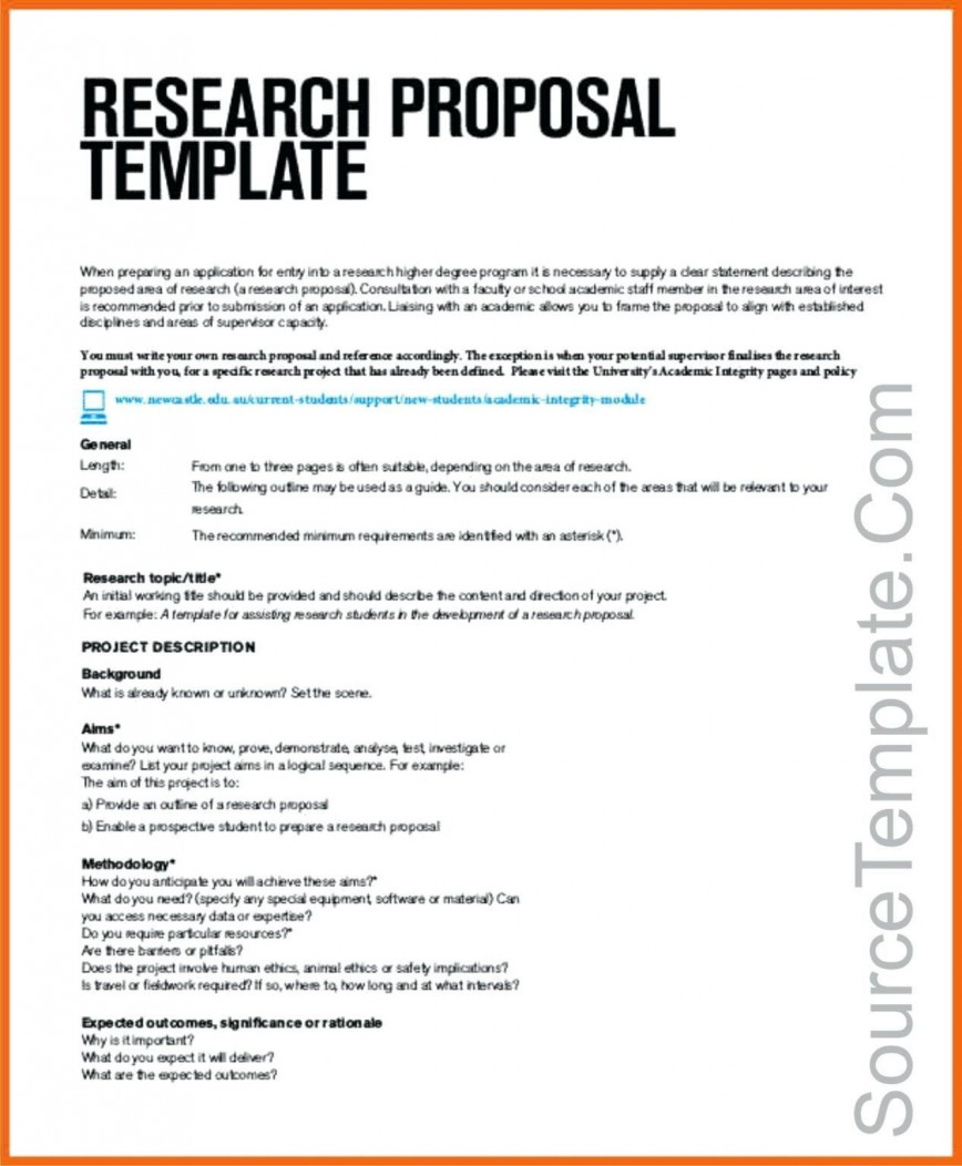 001 Amazing Research Project Proposal Template Word Image