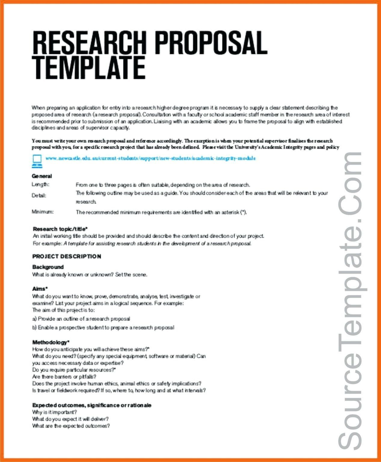 001 Amazing Research Project Proposal Template Word Image Full