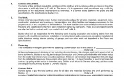 001 Amazing Residential Construction Contract Template Picture  House Agreement Pdf