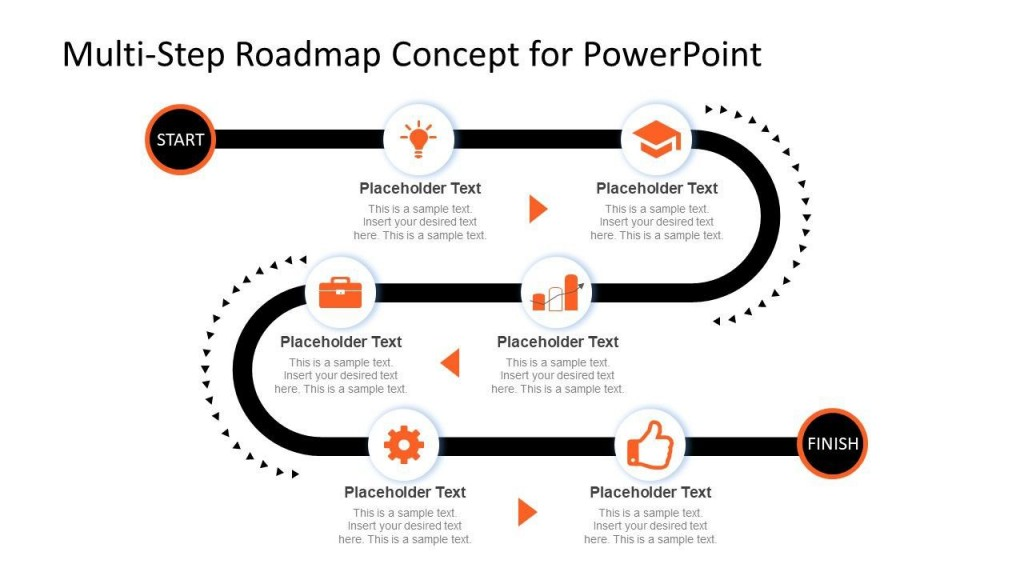 001 Amazing Road Map Template Powerpoint High Def  Roadmap Ppt Free Download ProductLarge