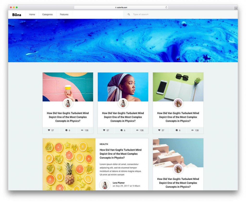 001 Amazing Simple Html Blog Template Free Download Inspiration  With CsLarge