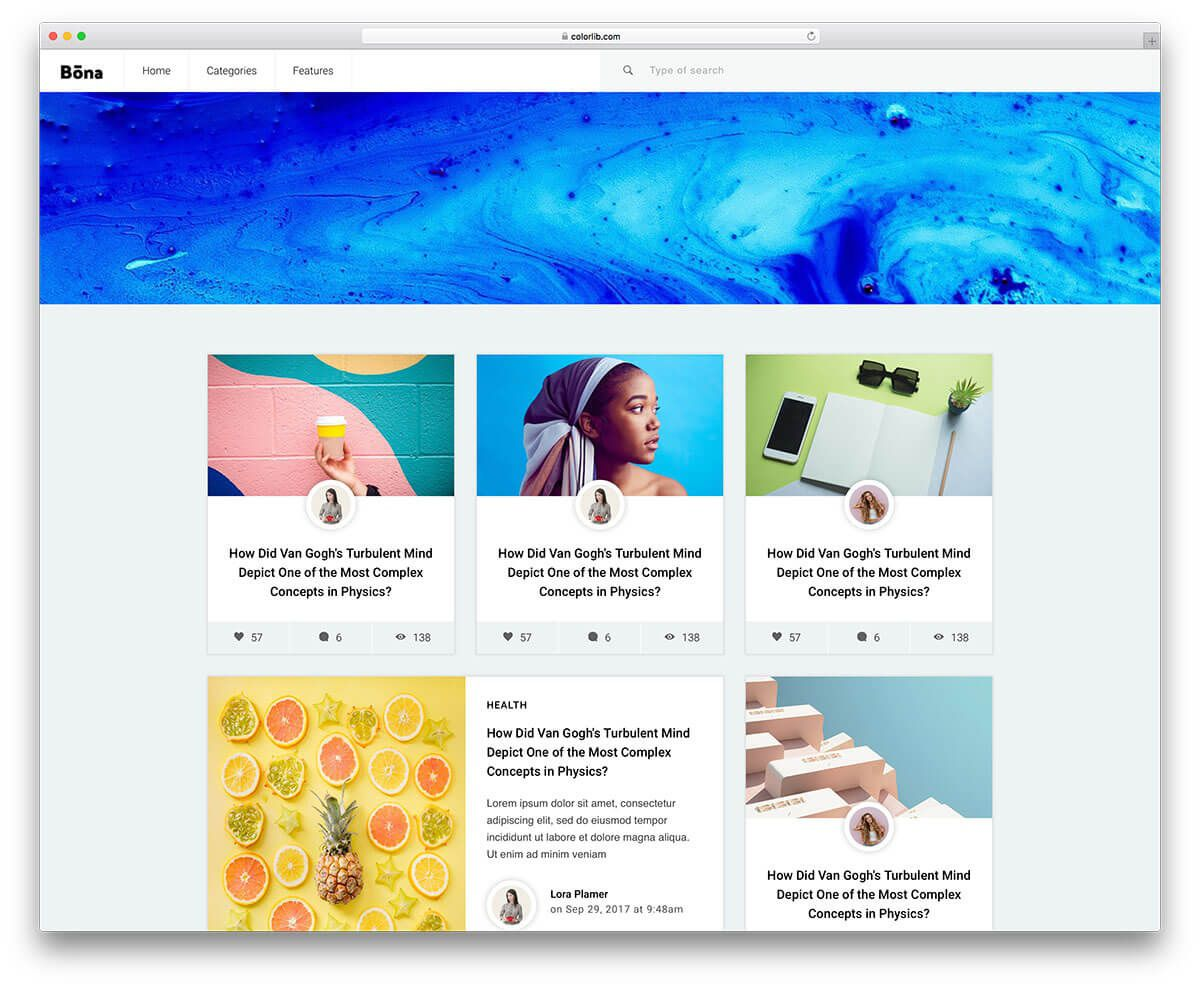 001 Amazing Simple Html Blog Template Free Download Inspiration  With CsFull
