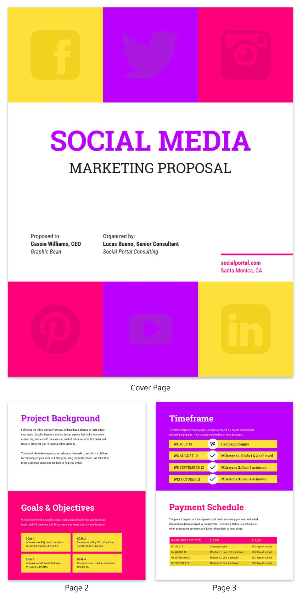 001 Amazing Social Media Proposal Template Image  Ppt Marketing Word 2019Full