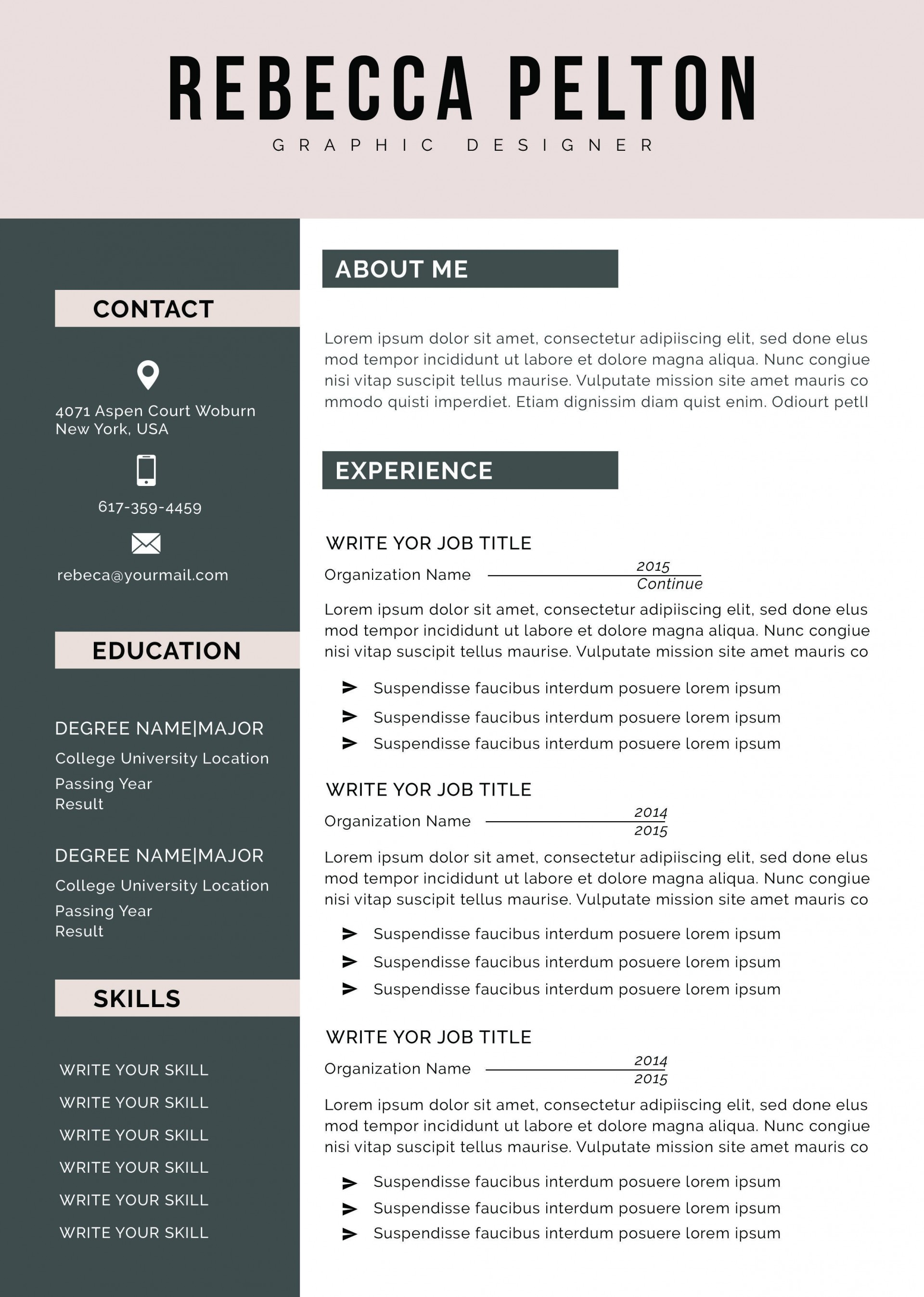 001 Amazing Student Resume Template Word Concept  High School Free College Microsoft Download1920