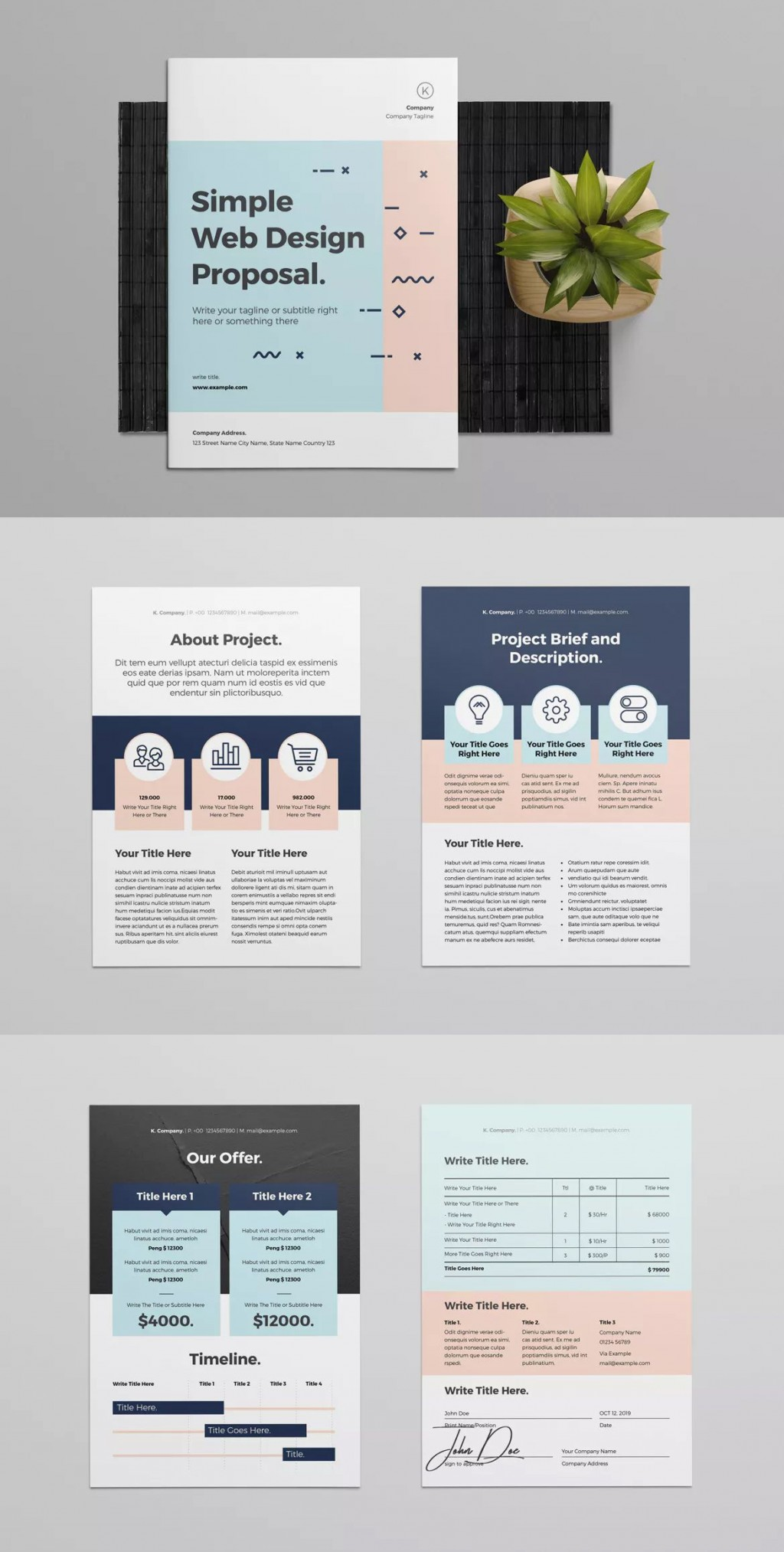 001 Amazing Web Design Proposal Template Indesign High Resolution Large