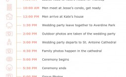 001 Amazing Wedding Day Itinerary Template Highest Clarity  Timeline Reception Free For Bridal Party