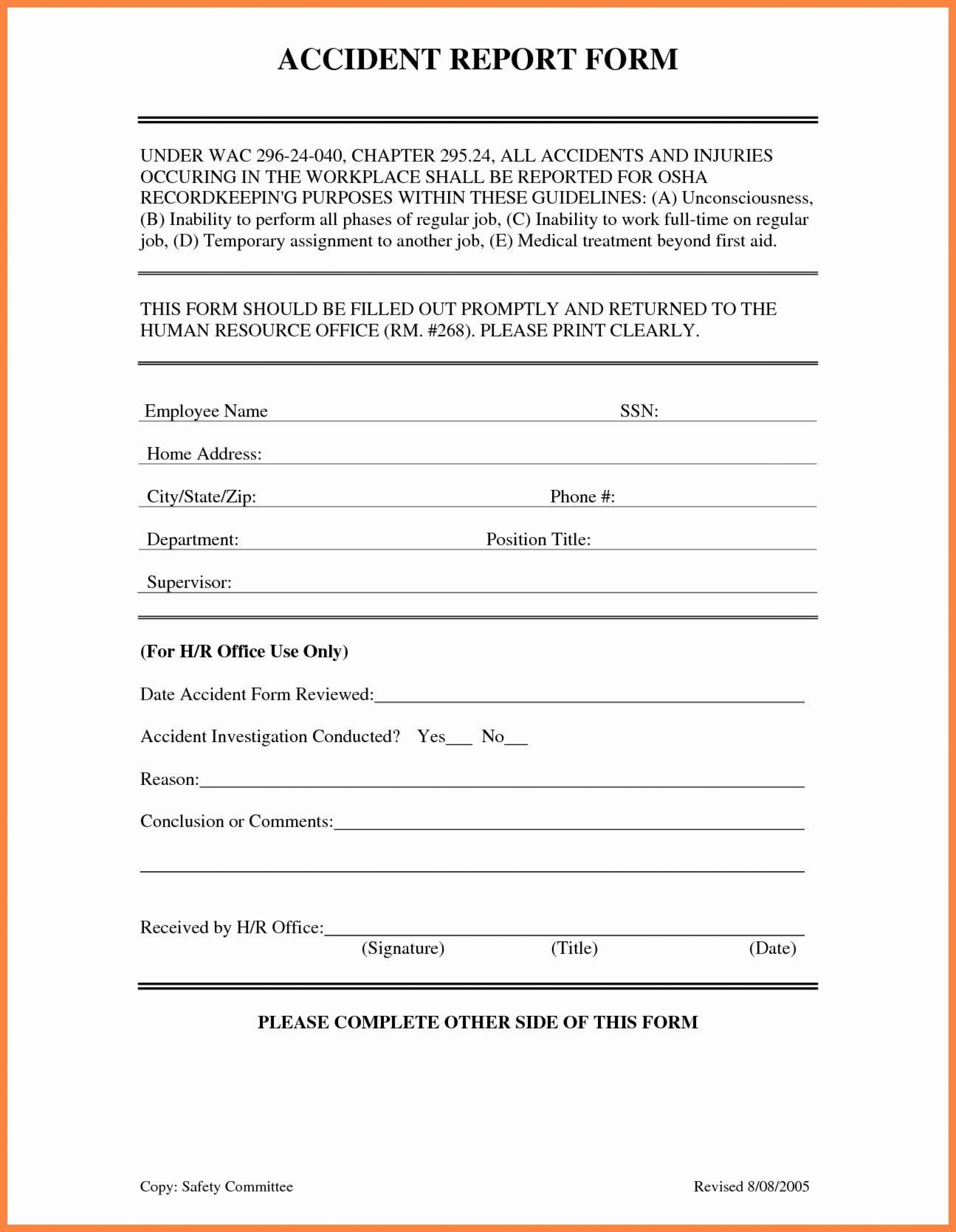 001 Amazing Workplace Incident Report Template Ontario Image  Form1920
