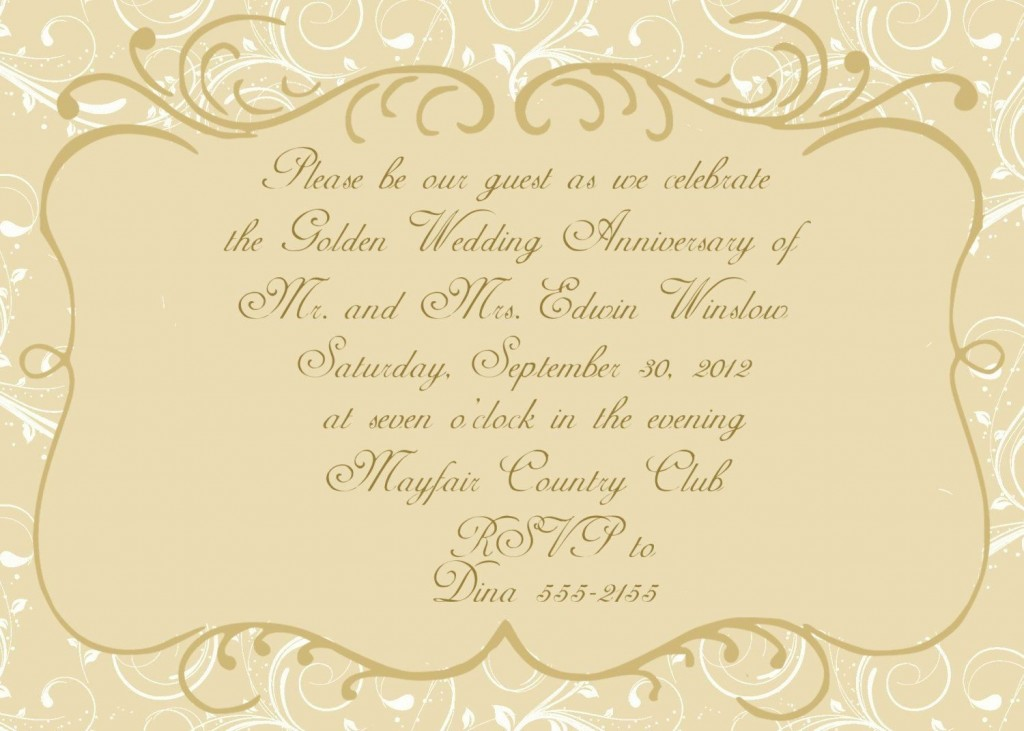 001 Archaicawful 50th Wedding Anniversary Invitation Template Design  Templates Golden Uk Free DownloadLarge