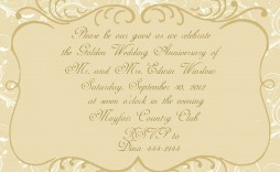 001 Archaicawful 50th Wedding Anniversary Invitation Template Design  Templates Golden Uk Free Download