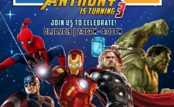 001 Archaicawful Avenger Birthday Party Invitation Template Free Example  Invite