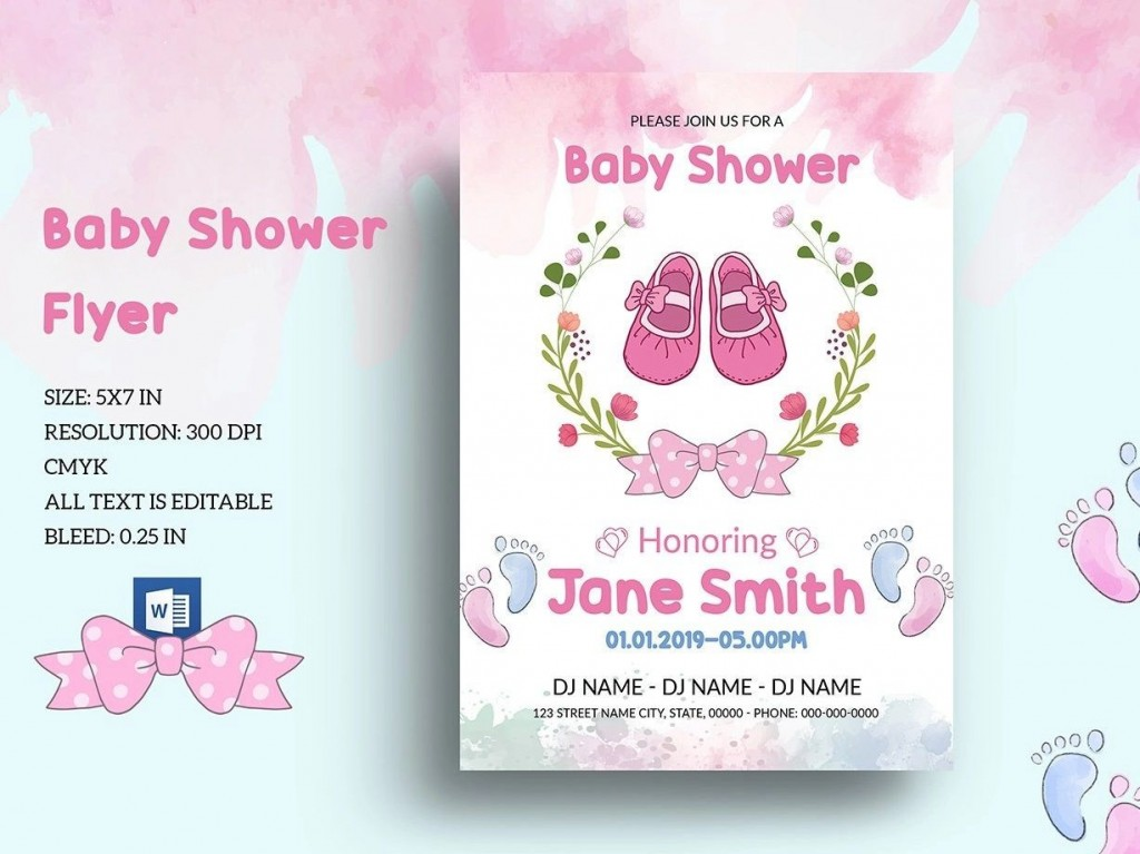 001 Archaicawful Baby Shower Template Word Idea  Printable Search Free InvitationLarge