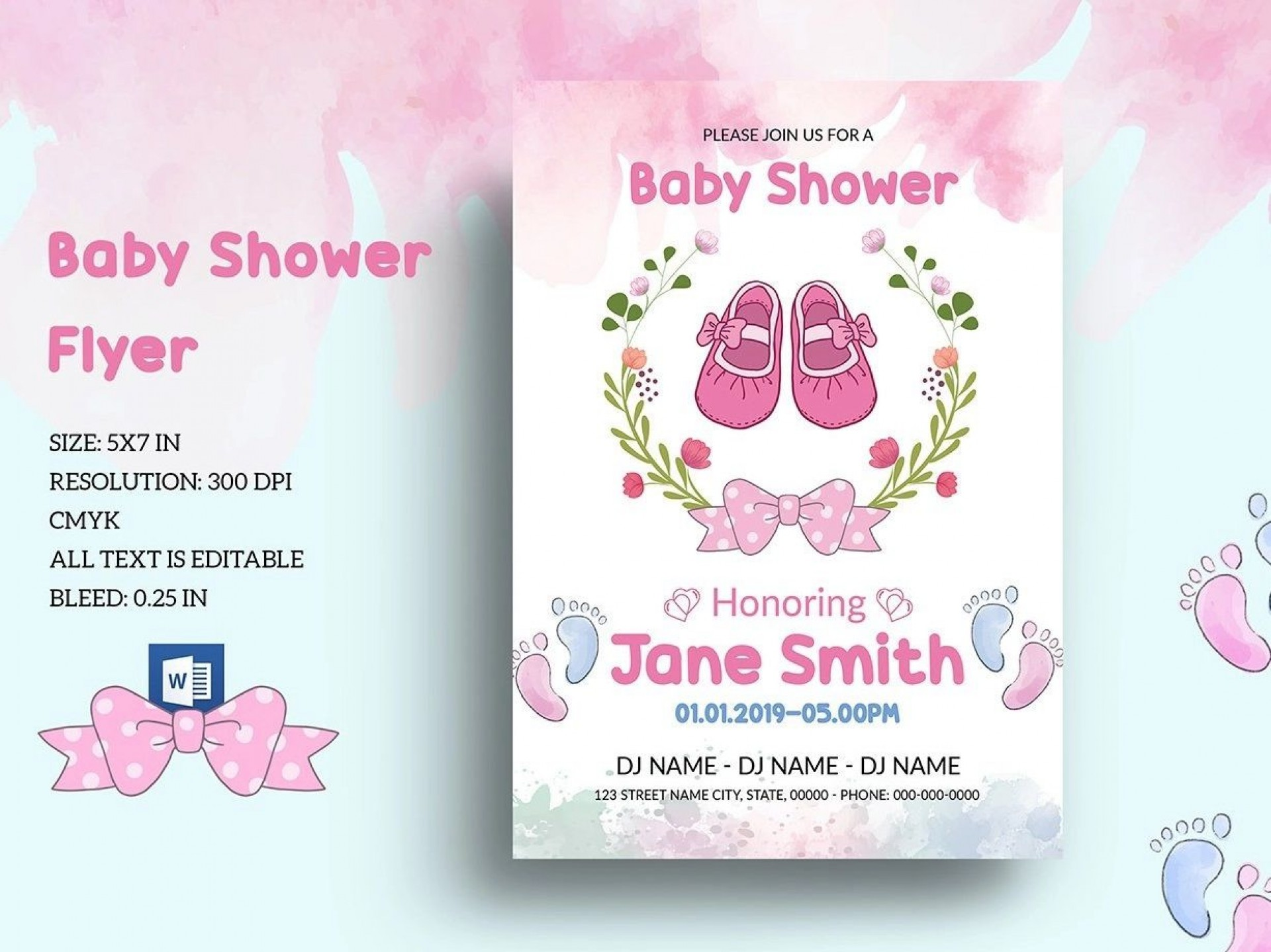 001 Archaicawful Baby Shower Template Word Idea  Printable Search Free Invitation1920