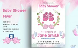 001 Archaicawful Baby Shower Template Word Idea  Printable Search Free Invitation