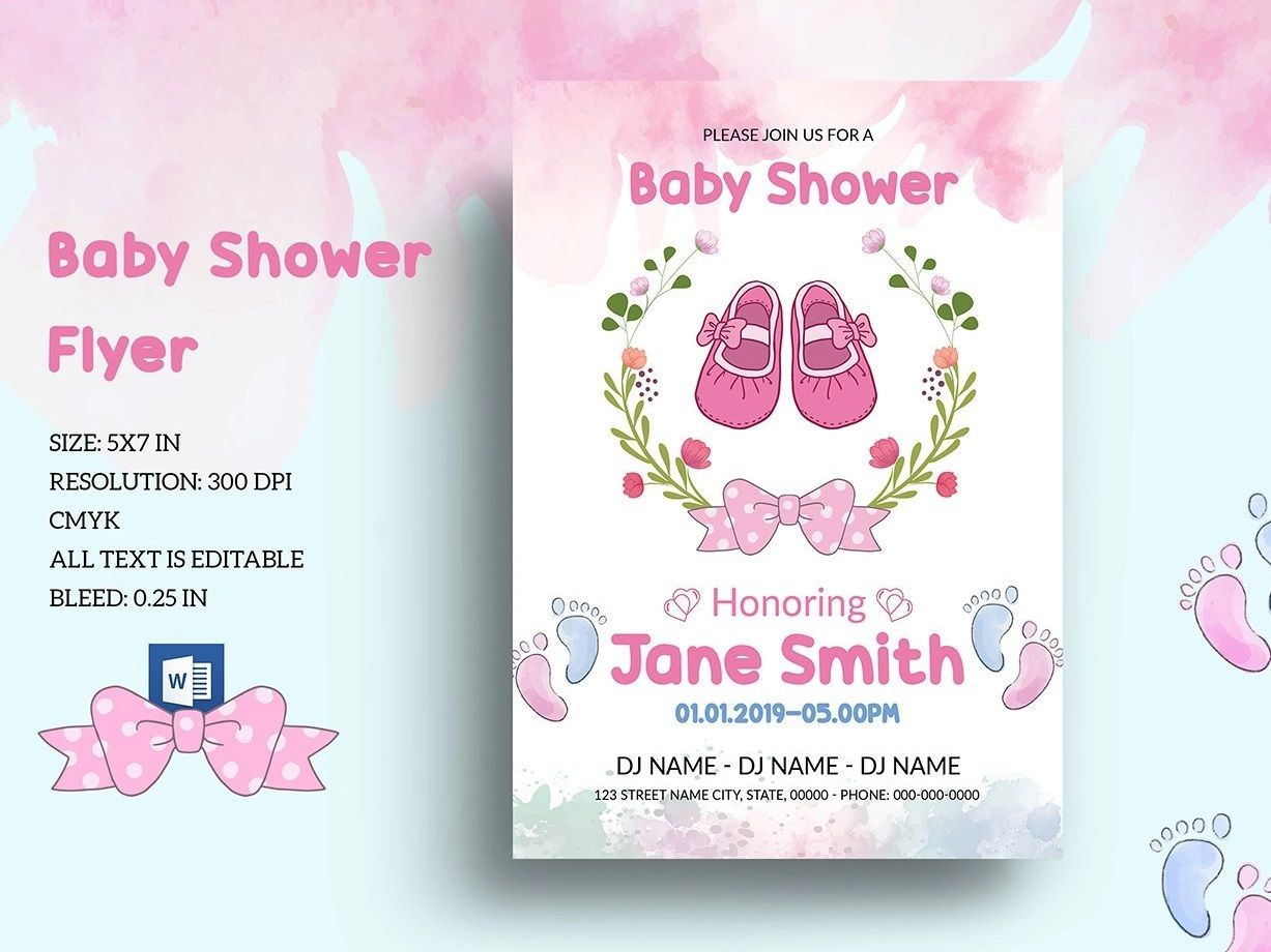 001 Archaicawful Baby Shower Template Word Idea  Printable Search Free InvitationFull