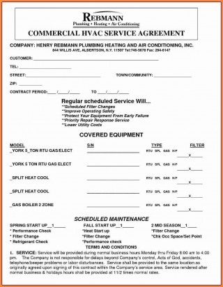 001 Archaicawful Commercial Hvac Service Agreement Template Highest Quality  Maintenance Contract320