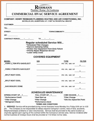 001 Archaicawful Commercial Hvac Service Agreement Template Highest Quality  Maintenance Contract360