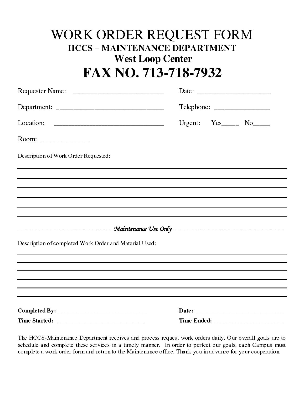 001 Archaicawful Construction Work Order Template Sample  Word Additional Form FreeFull