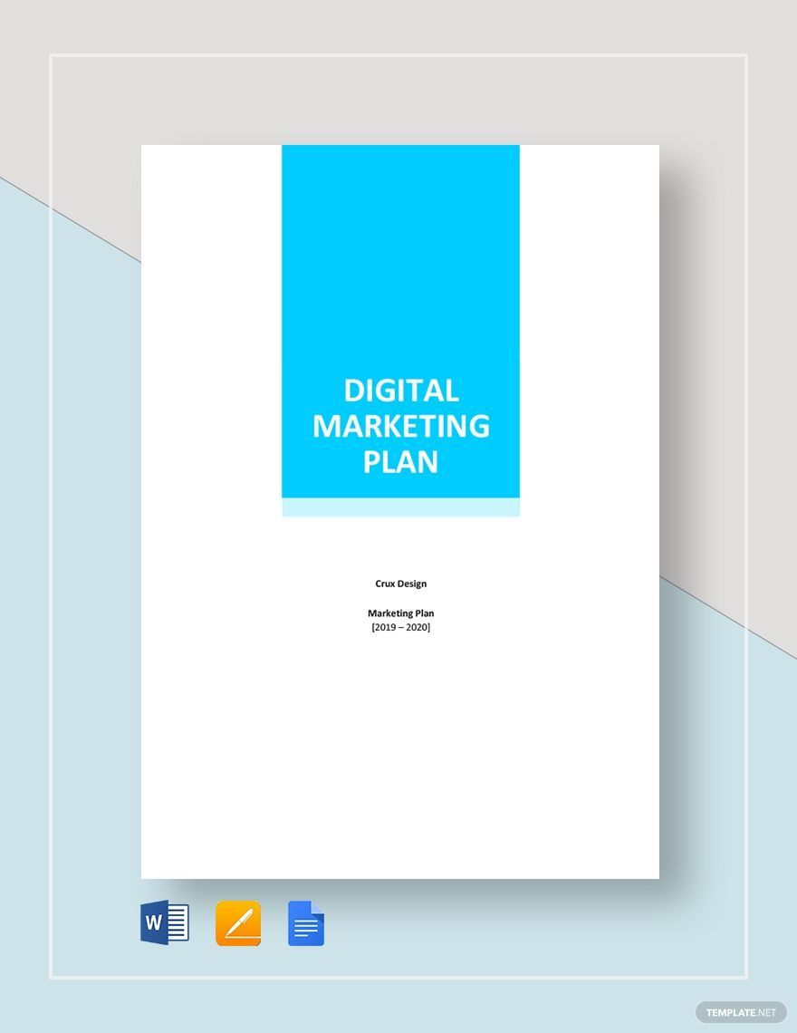 001 Archaicawful Digital Marketing Plan Template Word High Definition Full