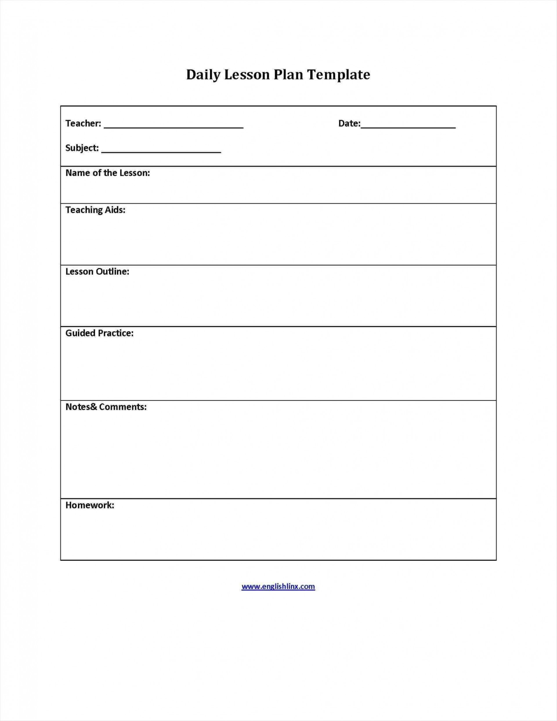 001 Archaicawful Free Printable Lesson Plan Template For Elementary Teacher Sample  Teachers1920