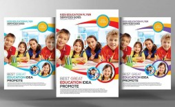 001 Archaicawful Free School Flyer Design Template Sample  Templates Creative Education Poster