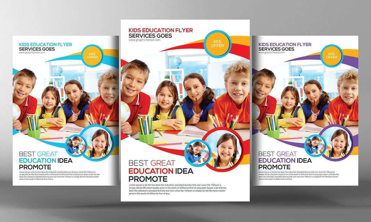 001 Archaicawful Free School Flyer Design Template Sample  Templates Creative Education PosterFull